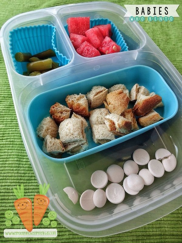 Got Little Lunchers? Sarah's #babieswhobento series is just for you! Lots of baby friendly lunchbox ideas!