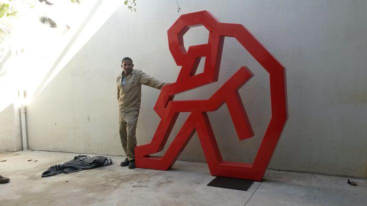 Contemplation. Sculpture. Mild steel. Rustproof