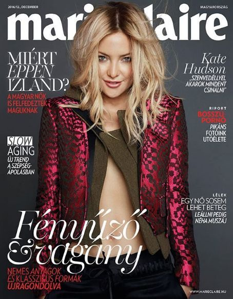 Kate Hudson - Marie Claire Magazine Cover [Hungary] (December 2016)
