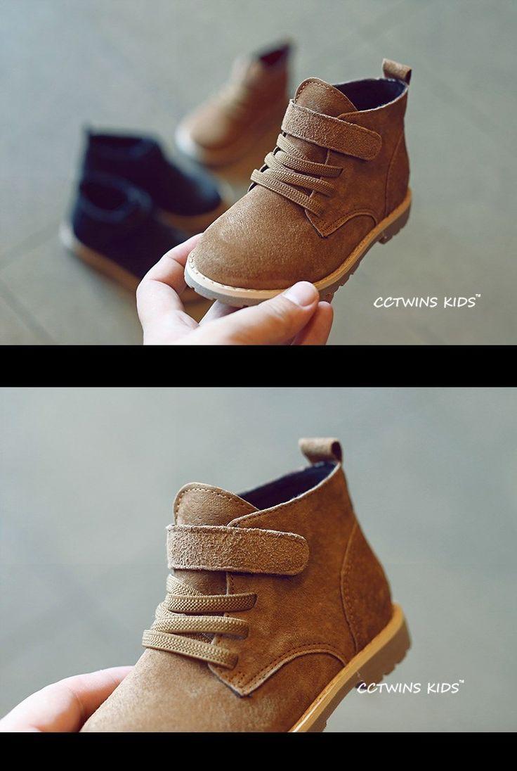 CCTWINS KIDS otoño marca niños botines botas de bebé niños zapatos niñas botas niño botas de ante marrón de cuero genuino en Botas de La madre y Los Niños en AliExpress.com | Alibaba Group
