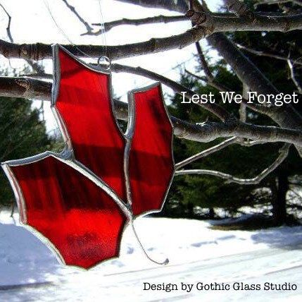 Remembering...stained glass Maple Leaf