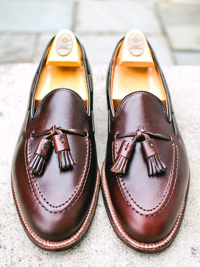 Alden Tassel Loafer in Horween Dark Brown Chromexcel #shoes #menstyle #menswear