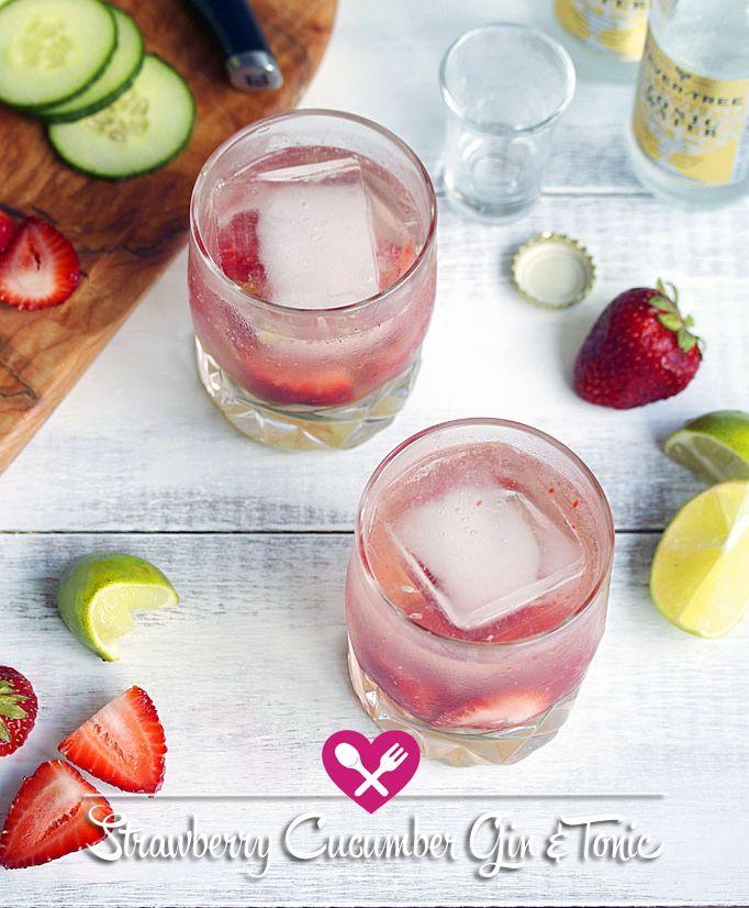 Strawberry Cucumber Gin & Tonic.
