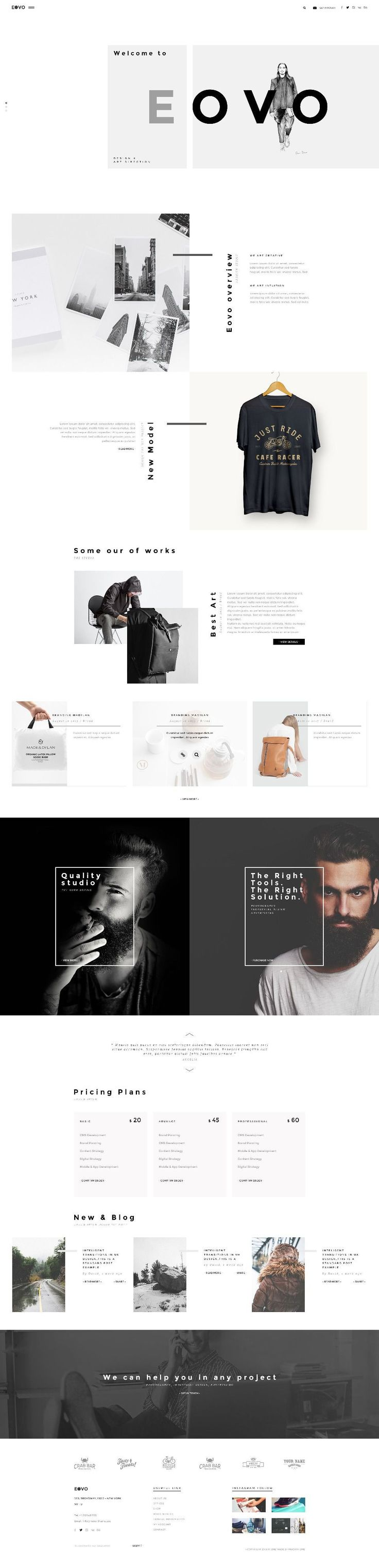 """Creative work Ghost Web Design Inspiration.""""EOVO – Creative PSD Template"""" is modern, clean, multiple functions and professionally. It has 11 homepage layouts and 11 Online store layout Options! This template suits for any type of portfolio, Creative, corporate, design studio, Fashions, Blog shopping and more. You can buy this PSD Template here.alsoif you want to …"""