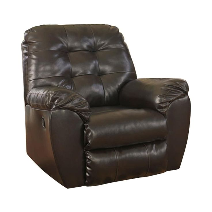 Offex Signature Design by Ashley Alliston Rocker Recliner in Chocolate (Brown) DuraBlend [OF-FSD-2399REC-CHO-GG] (Leather)