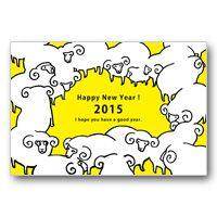 年賀状デザイン・イラスト素材のダウンロード | デザイナーズ年賀状 | ファンシー ポップ | アフロ モール(Aflo Mall)