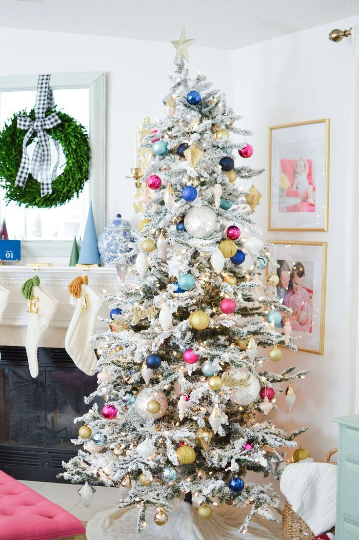 Southern Colorful Christmas Decor Bright Christmas Decorations Pink Christmas Tree Eclectic Christmas Trees