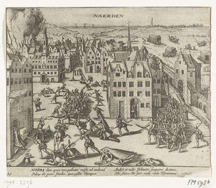 Naarden, The Netherlands - Spanish troops kill the inhabitants, 1572