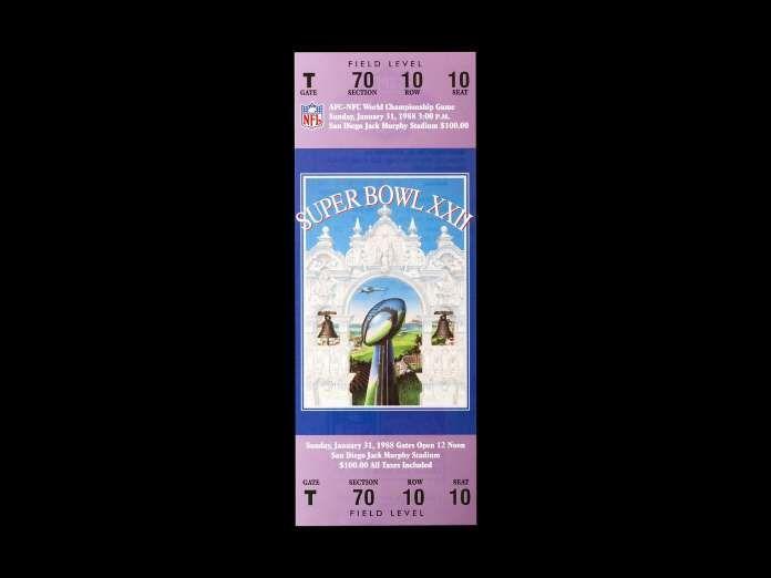 Super Bowl XXII: The Washington Redskins and the Denver Broncos played on January 31, 1988 at Jack M... - Garrett Reid, USA TODAY Sports