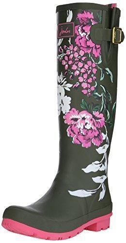 Oferta: 58.65€. Comprar Ofertas de JoulesU_wellyprint - Botas para mujer, color verde (grape leaf floral), talla 38 EU (5 UK) barato. ¡Mira las ofertas!