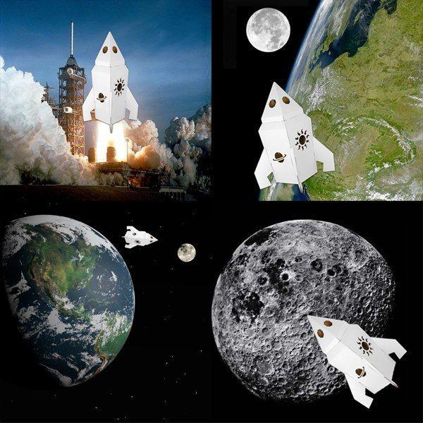Si simple et si chouette ! « ...Mon lit c'est ma fusée, je suis prêt à la lancer…je commence à décompter moins quart et demie à sept…et 1, 2, 3, 4, 5, 6, 7 et je sais même compter jusqu'à 10 !et on voit les étoiles et on passe les comètes et on est aux face aux planètes et on trace dans l'espace, des satellites on les passe, des trous noirs qui s'entassent, les météorites viennent en masse…on tourne on repasse… » http://www.handmadeofpassion.be/…/jouets-en…/fusee-en-carton Qu'en pensez-vous?