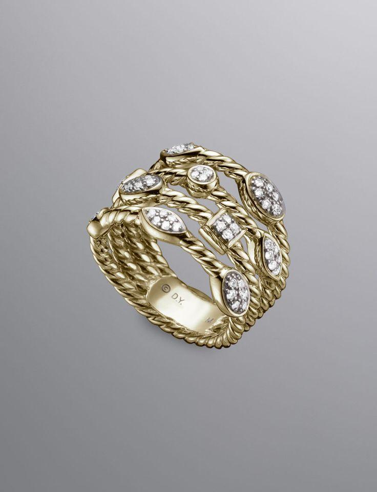 david yurman fourrow pave diamond confetti ring brown u0026 co jewelers