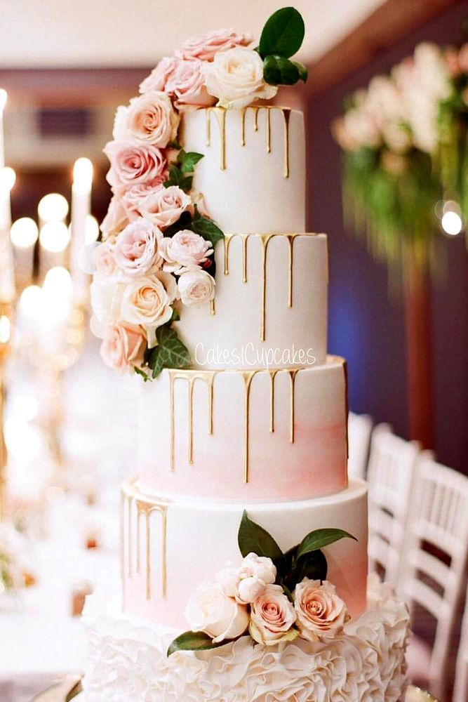36 Yummy And Trendy Drip Wedding Cakes
