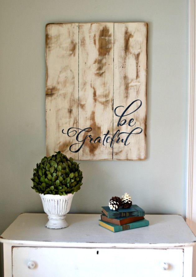 Be Grateful wood sign    Aimee Weaver Designs