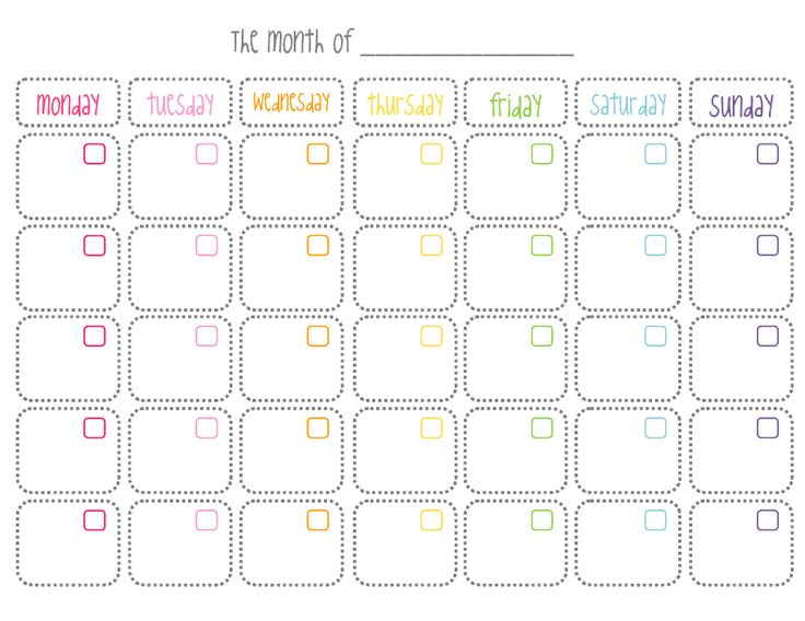 Cute Printable Monthly Calendar  Things To Wear