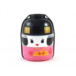 Geisha Bento Box (Pink) / Bowl and two-tier, bento box set for meals on the go
