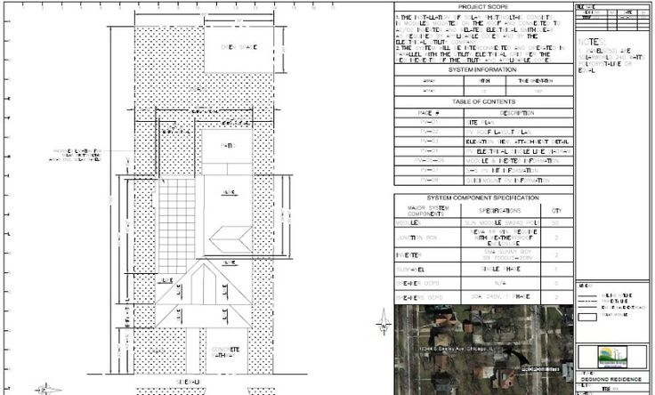 Sample of cad work for a residential solar plan