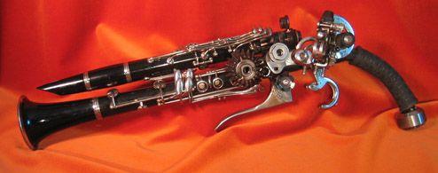 Clarinet to steampunk pistol conversion