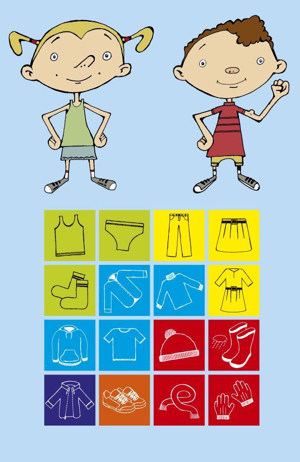 AANKLEEDROOSTER: Dit rooster helpt je kleuter zelfstandig zijn kleren aantrekken. Knip de pictogrammen uit die je nodig hebt. Kleef ze onder elkaar op het rooster in de volgorde waarop jouw kind zich moet aankleden. Met een wasspeld die de stapjes meevolgt, leert je kind het zelf.