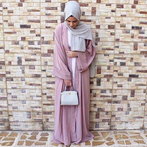 blush abaya fashion- Saudi Abaya fashion http://www.justtrendygirls.com/saudi-abaya-fashion/