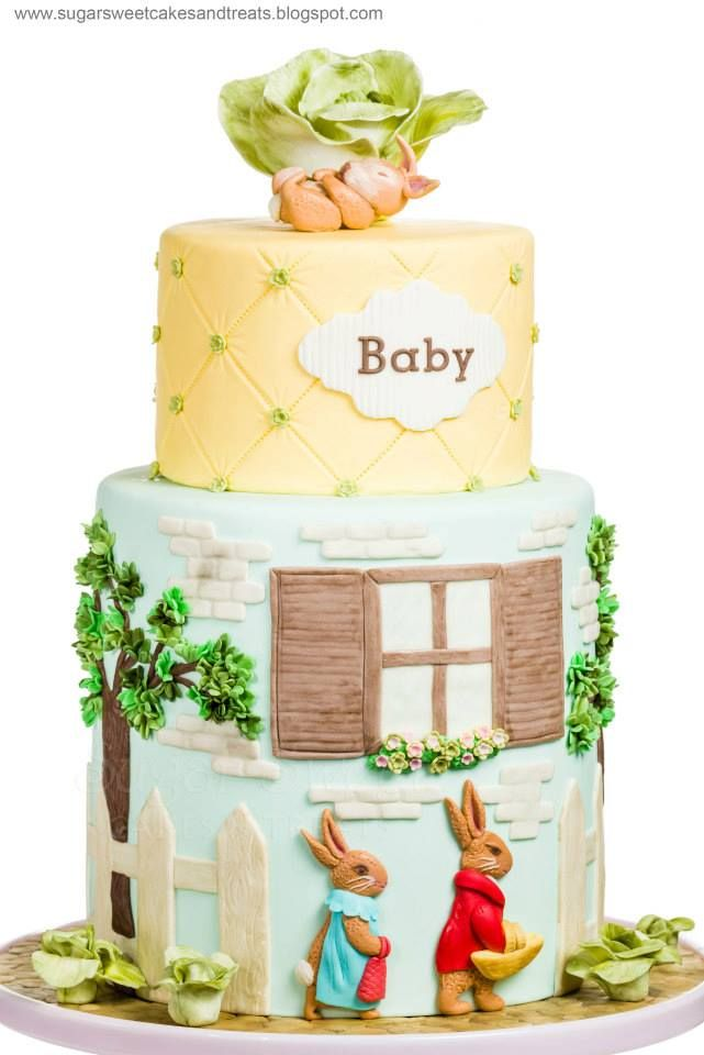 "A Beatrix Potter Baby Shower, ""Tale of the Flopsy Bunnies"" - by Sugar Sweet Cakes & Treats"