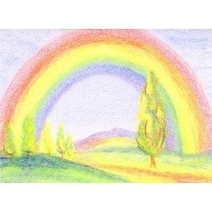 Waldorf ~ 1st grade ~ Drawing ~ block crayons