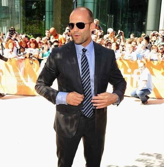 He looks impeccable in any and all suits. | Jason Statham Is The Most Beautiful Bald Man On This Planet