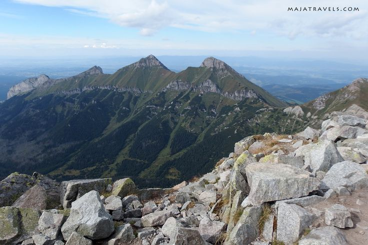 View from Jahňací štít in High Tatras mountain range.