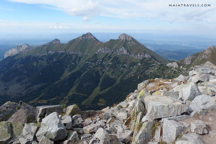 View from Jahňací štít in High Tatras mountain range.