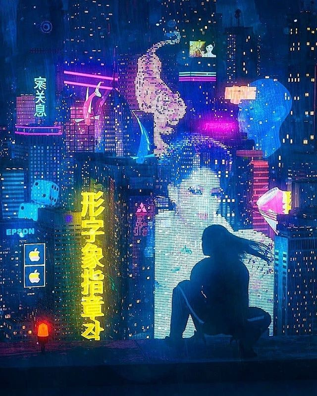 various colors 53d21 48055 Cyber punk   Cyberpunk in 2019   Cyberpunk city, Cyberpunk art ...