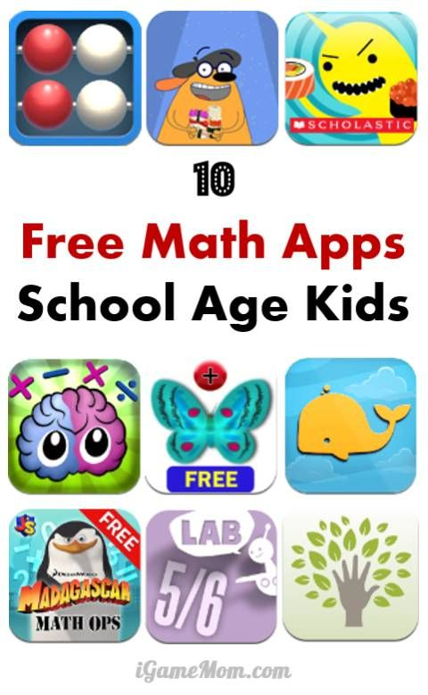 10 Free Math Apps for Elementary School Kids - fun math games, engage math lessons making math learning enjoyable for kids. Great STEM teaching resource for teachers