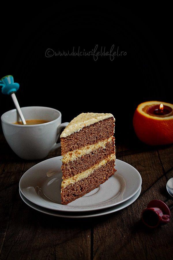 Tort cu crema de portocale | Dulciuri fel de fel