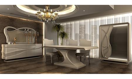 -Nova yemek odası içerisinde gümüşlük, konsol, masa ve 6 adet sandalye bulunuyor. -Ürün fiyatının %10 farkı ile ölçü ve renklerde oynama yapılmaktadır. -Aynı zamanda bu ürünün modelinden olan tv ünitesi de satın almak isterseniz Nova tv ünitesi modelini göz atabilirsiniz.