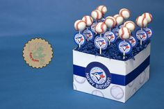 Blue Jays Cake Pops