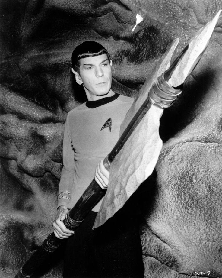 Vintage publicity shot of Leonard Nimoy as Mister Spock.