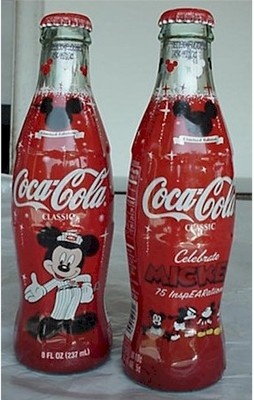 *COCA-COLA ~ Bottle--2003 Mickey Mouse 75th (wrapped)FOLLOW THIS BOARD FOR GREAT COKE OR ANY OF OUR OTHER COCA COLA BOARDS. WE HAVE A FEW SEPERATED BY THINGS LIKE CANS, BOTTLES, ADS. AND MORE...CHECK 'EM OUT!! Anthony Contorno Sr