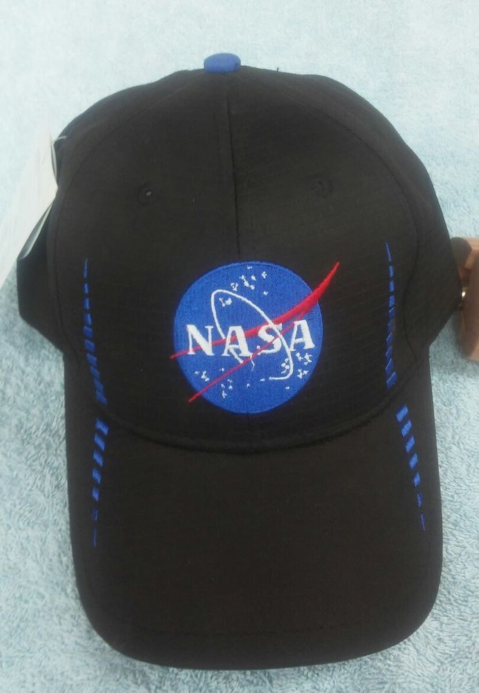 9332a636 NASA Space Center Hat Cap Black with the Vintage NASA Logo Strapback  #americacap #Trucker