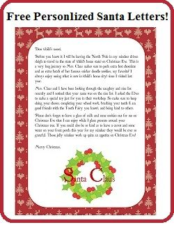 enchanted homeschooling mom free personalized printable With personalised santa letter printable