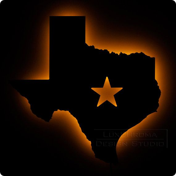 Texas Wall Light  Bright Texan Theme Night Light by LuxChroma, $65.00 - Kellie,   Not as big as I would like to see, but a 'brainstorming' idea for your new restaurant.