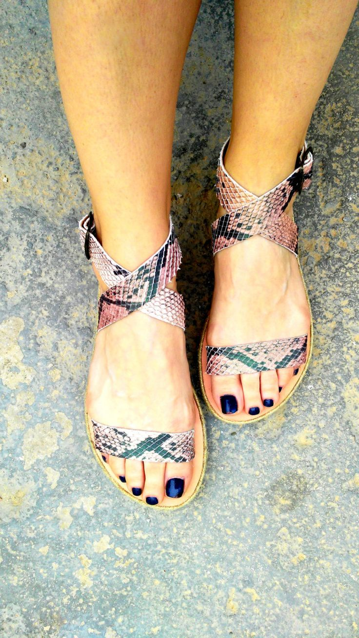 """aelia """"amethyst"""" sandals/snake/handmade leather sandals /greek sandals in flatform with rope by aeliasandals on Etsy"""
