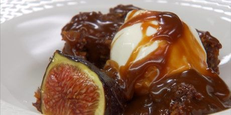 Sticky Fig Pudding with Candied Fresh Figs Recipe  Omg this looks amazing