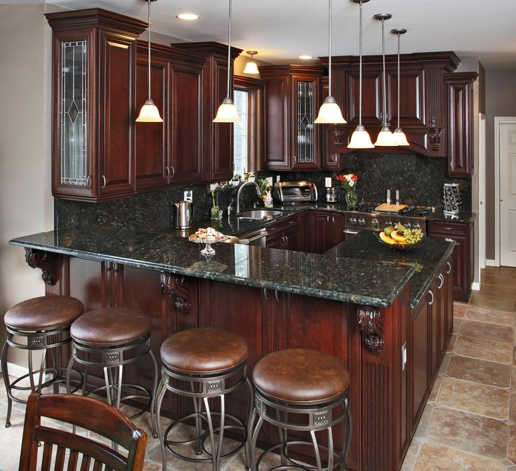 Cherry Kitchen Cabinets Black Granite cordovan dipped cherry kitchen | glaze, cherries and kitchens