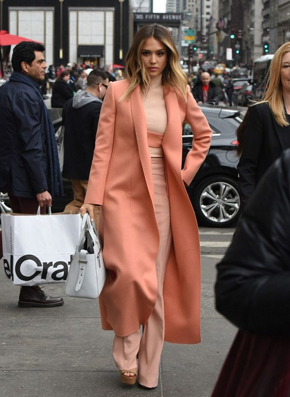 """ Jessica Alba in New York City on March 10, 2015 """