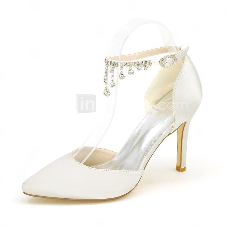 Mujer Zapatos Satén Verano Confort Zuecos y pantuflas Tacón Stiletto Dedo Puntiagudo Negro / Fucsia / Verde e52lymL