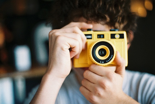 yellow Holga #camera #lomography