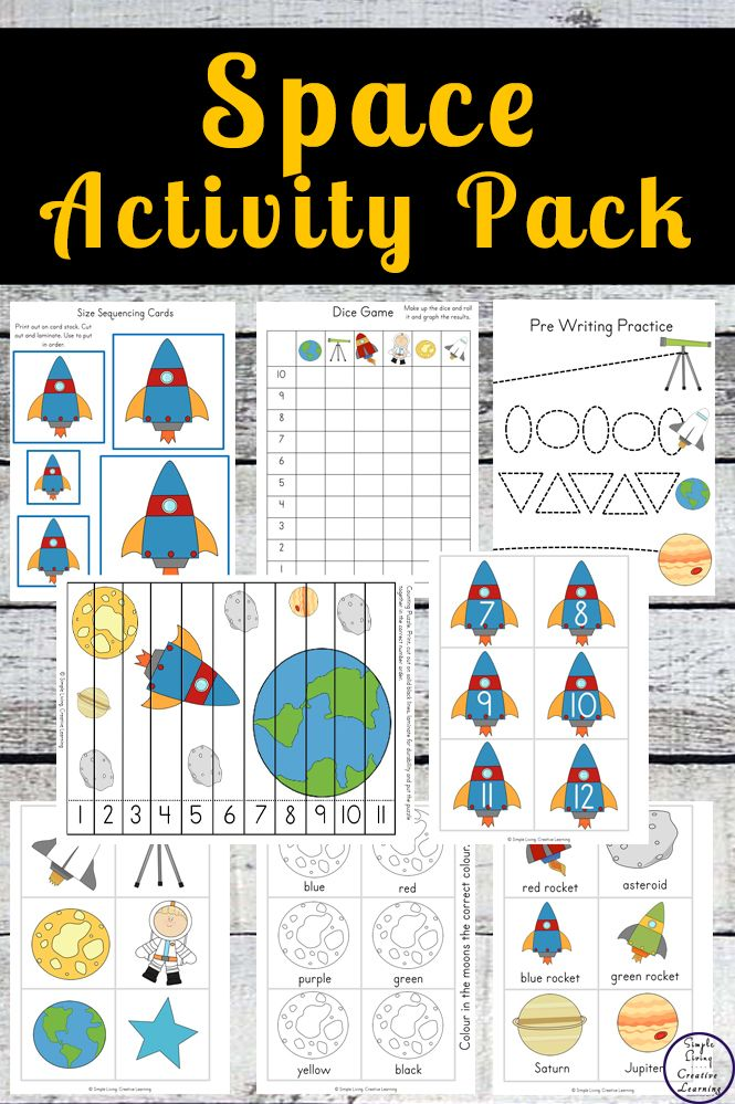 Space Activity Pack Space Activities Activity Pack Activities