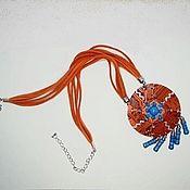 """Украшения ручной работы. Ярмарка Мастеров - ручная работа Кулон в стиле """"хиппи"""". """"Восход на Севере"""". Handmade."""