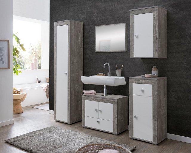 Produktdetails Produktdetails Set Bestehend Aus 1 X Hangeschrank 1 Turig 1 X Unterschrank 1 Turig 1 In 2020 Badezimmer Set Waschbeckenunterschrank Hangeschrank