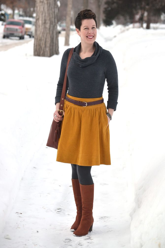 Already Pretty outfit featuring gray cowlneck sweater ...