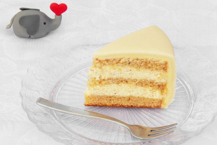 Oříškový dort s marcipánem
